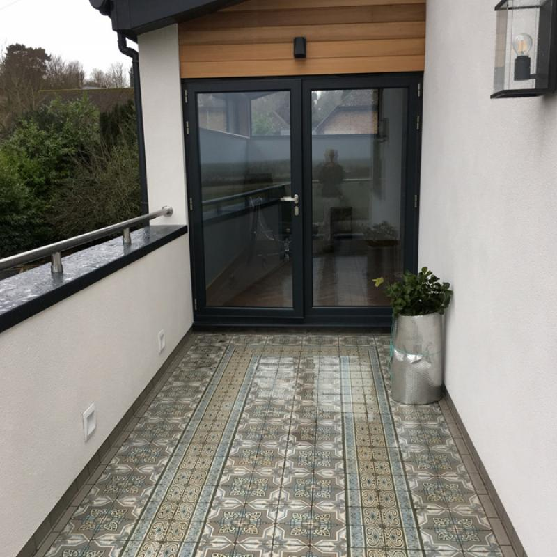 Resulting patio lay based on the technical drawing