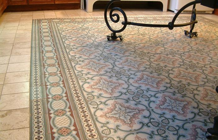 A Stunning Art Nouveau Floor In A Kitchen In Brooklyn The Antique Floor Company