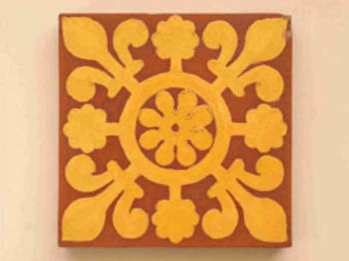 Early Minton encaustic tile c.1842