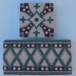 Internal frame tile with its cabochon