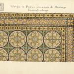 Original catalogue page offering the tile